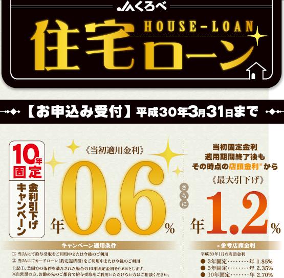 住宅ローンキャンペーンのイメージ